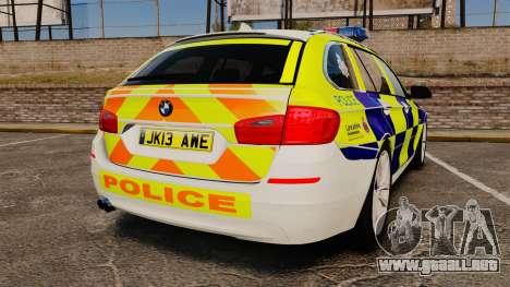 BMW 530d Touring Lancashire Police [ELS] para GTA 4 Vista posterior izquierda