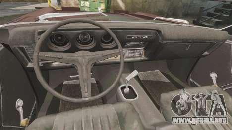 Oldsmobile Toronado 1966 para GTA 4 vista hacia atrás