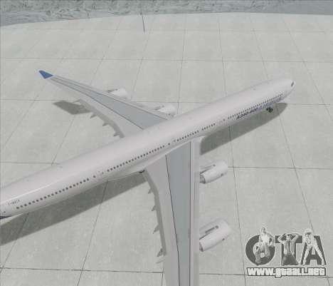 El Airbus A340-600 para GTA San Andreas vista posterior izquierda