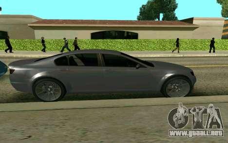 GTA V Fugitive para GTA San Andreas vista posterior izquierda