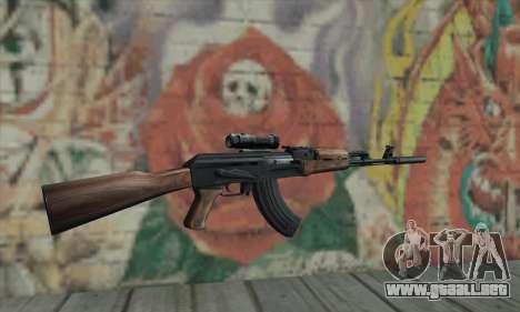 AK-47 Silencer para GTA San Andreas segunda pantalla