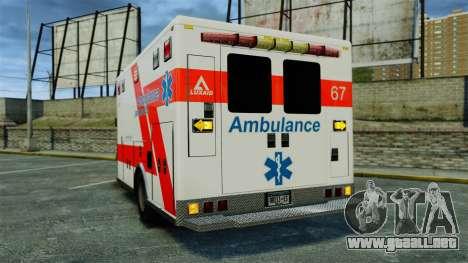 Brute Luxaid Ambulance [ELS] para GTA 4 Vista posterior izquierda