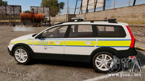 Volvo XC70 Emergency Response Unit [ELS] para GTA 4 left