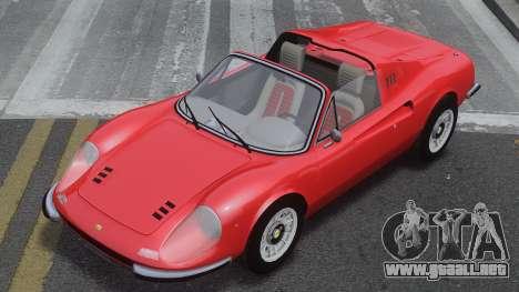 Ferrari Dino 246 GTS para GTA 4 vista interior