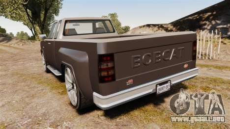 Bobcat XL v2.0 para GTA 4 Vista posterior izquierda