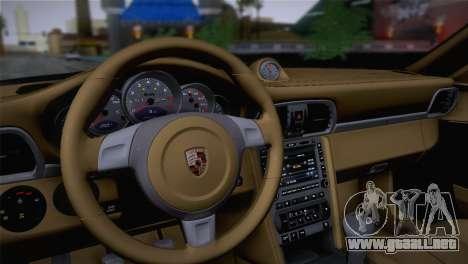 Porsche 911 Turbo Bi-Color para GTA San Andreas vista hacia atrás