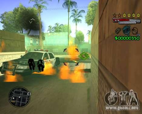 C-HUD by Santoro para GTA San Andreas sucesivamente de pantalla