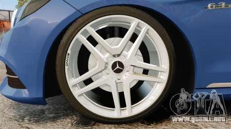 Mercedes-Benz E63 AMG 2014 para GTA 4 vista hacia atrás