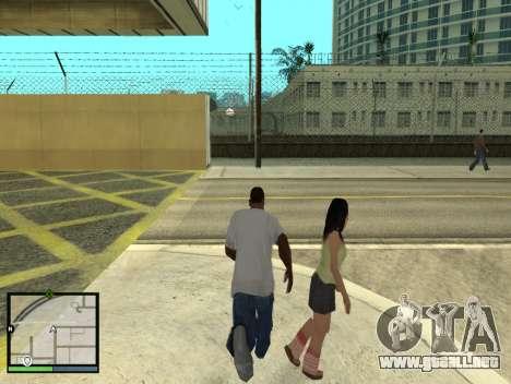 GTA 5 HUD v2 para GTA San Andreas quinta pantalla