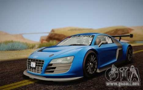 Audi R8 LMS v2.0.4 DR para GTA San Andreas left