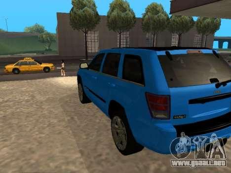 Jeep Grand Cherokee SRT8 Restyling M para GTA San Andreas vista posterior izquierda