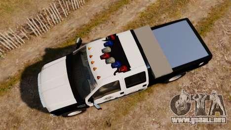Ford F-250 Super Duty Police [ELS] para GTA 4 visión correcta