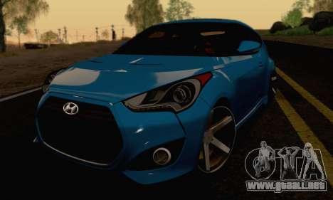 Hyundai Veloster para GTA San Andreas vista hacia atrás