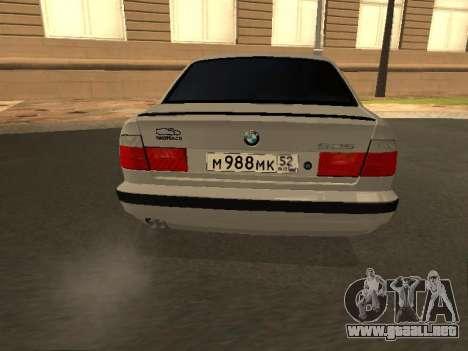 BMW 525 Smotra para GTA San Andreas vista posterior izquierda