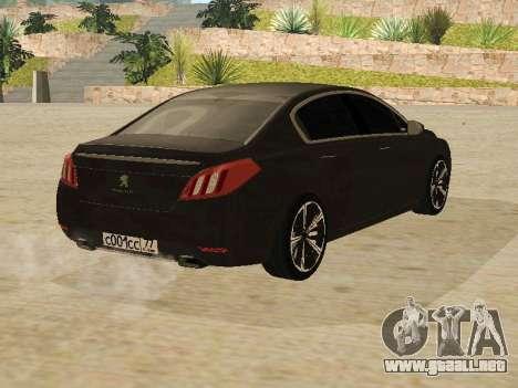 Peugeot 508 2011 v2 para la visión correcta GTA San Andreas