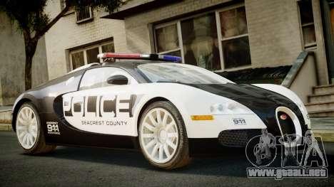 Bugatti Veyron 16.4 Police NFS Hot Pursuit para GTA 4
