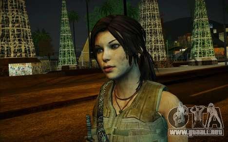Tomb Raider Lara Croft Guerilla Outfit para GTA San Andreas segunda pantalla