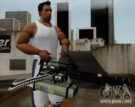 Renegades Minigun Black para GTA San Andreas tercera pantalla