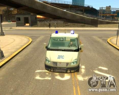 Gacela Evacuador de DPS para GTA 4 Vista posterior izquierda