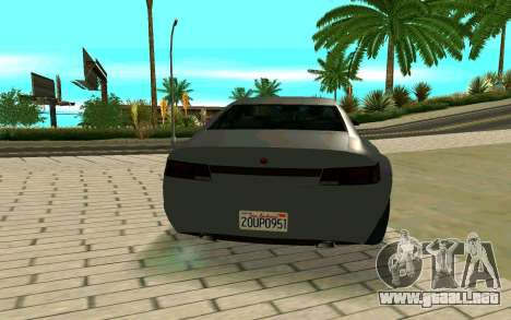 GTA V Fugitive Version 2 FIXED para GTA San Andreas vista posterior izquierda