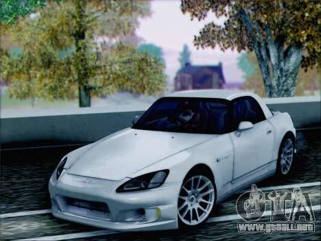 Honda S2000 Daily para GTA San Andreas vista hacia atrás