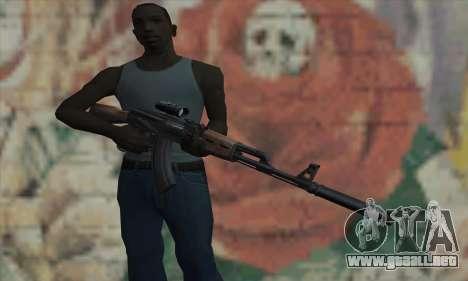AK-47 Silencer para GTA San Andreas tercera pantalla