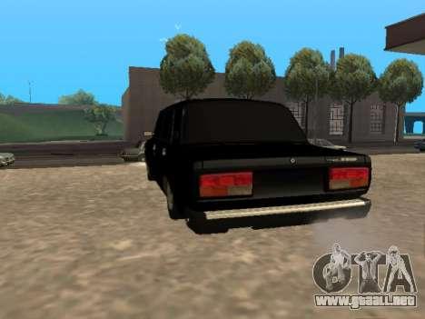 VAZ 2107 v1.2 Final para GTA San Andreas vista posterior izquierda