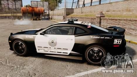 Chevrolet Camaro Police [ELS-EPM] para GTA 4 left