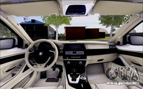 BMW 550 F10 xDrive para visión interna GTA San Andreas