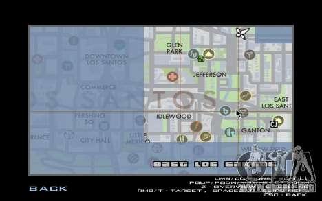 HQ Radar by Rockstar para GTA San Andreas sucesivamente de pantalla