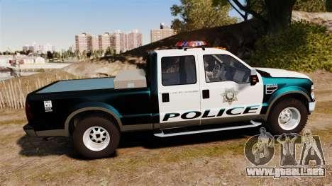 Ford F-250 Super Duty Police [ELS] para GTA 4 left