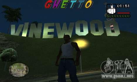 Шапка Gueto por Nick Búsqueda para GTA San Andreas segunda pantalla