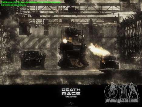 Inicio de las pantallas de la Carrera de la Muer para GTA San Andreas sucesivamente de pantalla