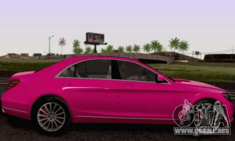 Mercedes-Benz W222 para la vista superior GTA San Andreas