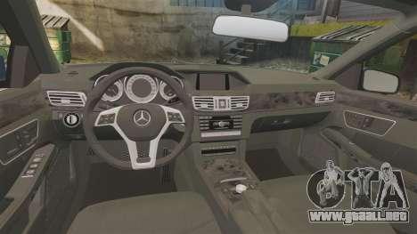 Mercedes-Benz E63 AMG 2014 para GTA 4 vista interior