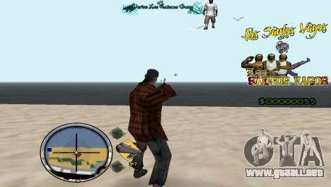 Hud By Fawkes para GTA San Andreas segunda pantalla