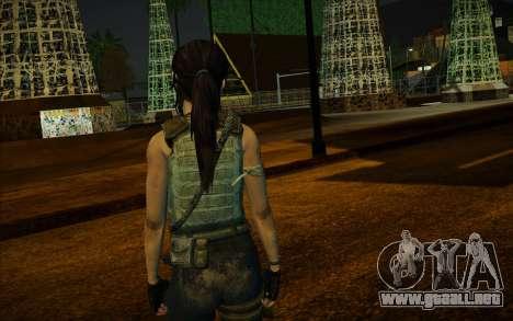 Tomb Raider Lara Croft Guerilla Outfit para GTA San Andreas tercera pantalla