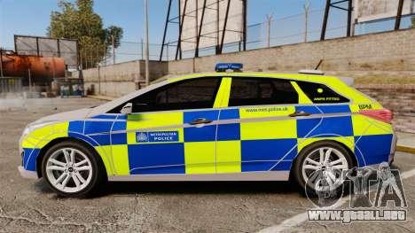 Hyundai i40 2013 Metropolitan Police [ELS] para GTA 4 left
