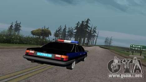 Audi 100, la Policía ОБЭП para la visión correcta GTA San Andreas