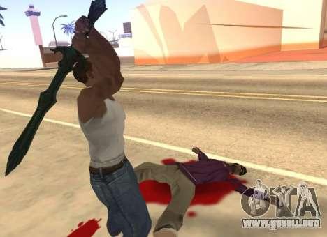 Vidrio espada de Skyrim para GTA San Andreas quinta pantalla