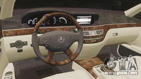 Mercedes-Benz S65 (W221) para GTA 4 vista lateral