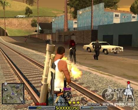 C-HUD Crime Ghetto para GTA San Andreas segunda pantalla