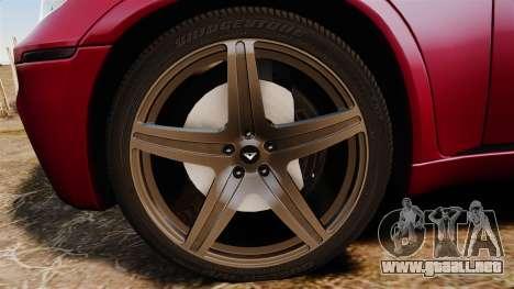 BMW X5M v2.0 para GTA 4 vista hacia atrás