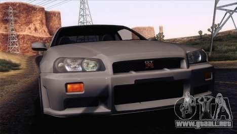 Nissan Skyline GT-R R34 V-Spec Lexani Rims para GTA San Andreas
