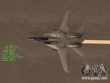 F-14 Tomcat HQ para vista inferior GTA San Andreas