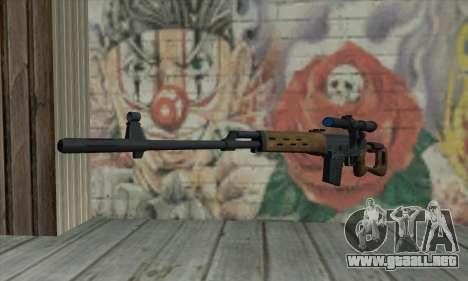 Dragunov Sniper Rifle para GTA San Andreas