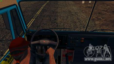 KamAZ-4310 para GTA San Andreas vista hacia atrás