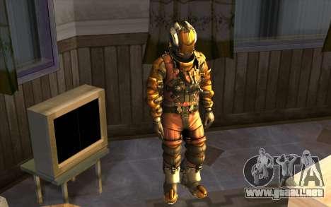 Isaac Clark in E.V.A Suit para GTA San Andreas segunda pantalla