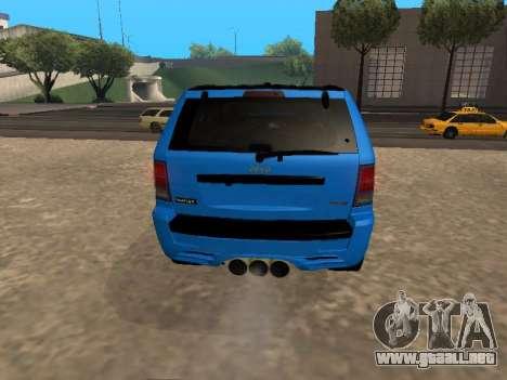 Jeep Grand Cherokee SRT8 Restyling M para la visión correcta GTA San Andreas