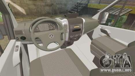 Mercedes-Benz Sprinter Police [ELS] para GTA 4 vista hacia atrás